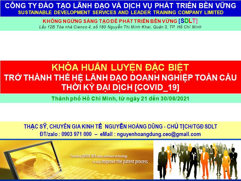 Khoá huấn luyện trở thành thế hệ lãnh đạo Doanh nghiệp toàn cầu mới thời đại dịch Covid-19